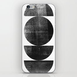 Black and White Mid Century Modern Circles Abstract iPhone Skin