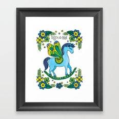 Rock-A-Bye (Blue) Framed Art Print