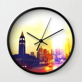 Light Leaks in Seattle Wall Clock