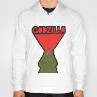 godzilla Hoodies featuring Godzilla by evannave