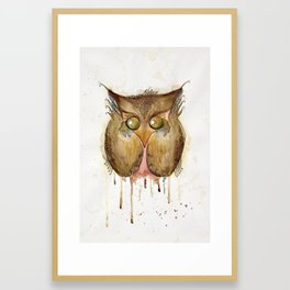 Vaguely Disturbing Owl Framed Art Print
