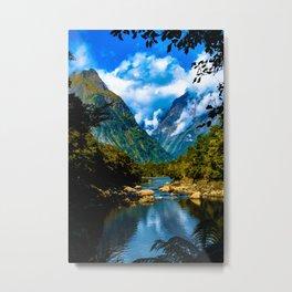 Mitre Peak - Milford Sound, New Zealand Metal Print