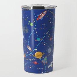 Space Rocket Pattern Travel Mug