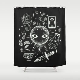 I See Your Future: Glow Shower Curtain
