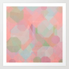 Hexagon, Square and Diamond Patterned Abstract Design Art Print