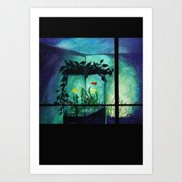 Life in a Fish Tank Art Print