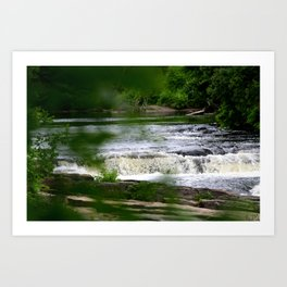 The River Falls! Art Print