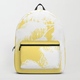 Palm Silhouettes On Yellow Backpack