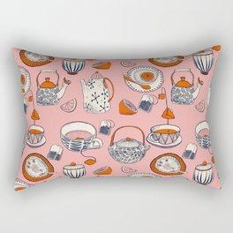 TEA PARTY for TEA LOVERS - pink Rectangular Pillow