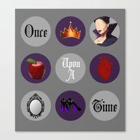 regina mills Canvas Prints featuring Once Upon A Time, Regina Mills by Your Friend Elle