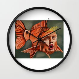 Fish Face Wall Clock