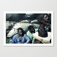 african Canvas Prints featuring african by NAIK
