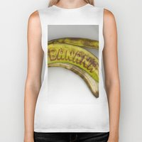 banana Biker Tanks featuring Banana by Abby Hoffman