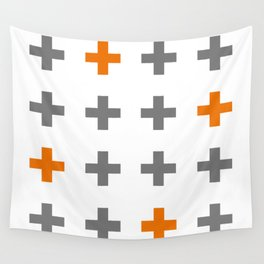Swiss cross / plus sign Wall Tapestry