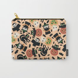 Halloween Gang Pale Orange Carry-All Pouch