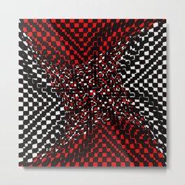 black white red 3 Metal Print