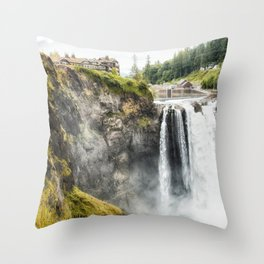 Snoqualmie Falls, Washington State Throw Pillow