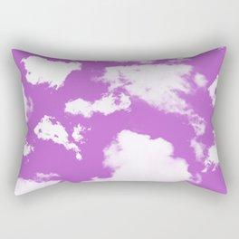 cloud sky, cloudy pink heaven Rectangular Pillow