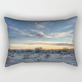 Sunset with Hot Air Balloons in the Distance Outside Phoenix Rectangular Pillow