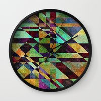 fault Wall Clocks featuring Fault Lines by Klara Acel