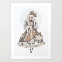 dress Art Prints featuring Dress by Loputyn