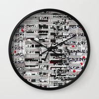 u2 Wall Clocks featuring Opportunistic Species (P/D3 Glitch Collage Studies) by Wayne Edson Bryan