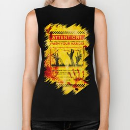 Prevent Zombie Outbreak: Wash your hands! Biker Tank