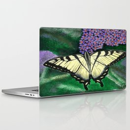 Yellow Tiger Swallowtail Butterfly Laptop & iPad Skin
