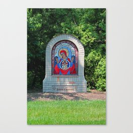 Lourdes University-  Commemoration of the Unborn in the Spring -vertical Canvas Print