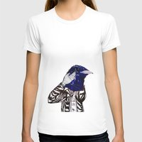 leather T-shirts featuring leather bird by Hitch