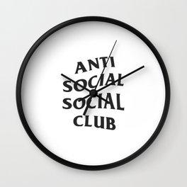 Anti social social club new 2018 style Wall Clock