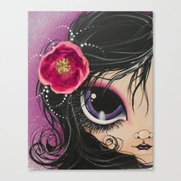 Purple Eye Girl Canvas Print