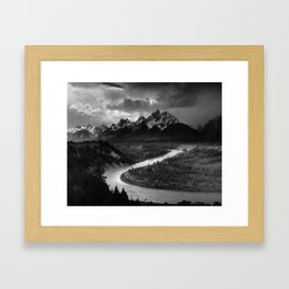 The Tetons and the Snake River | Wyoming | Ansel Adams Framed Art Print