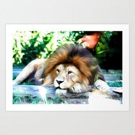Lion Art One Art Print
