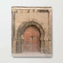 Ancient Medina Rose Doorway, Morocco Metal Print