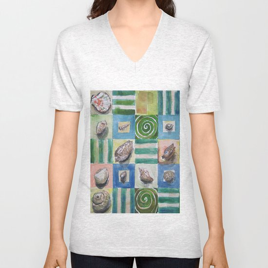 Shell and stripes Unisex V-Neck