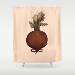 beetroot yoga Shower Curtain