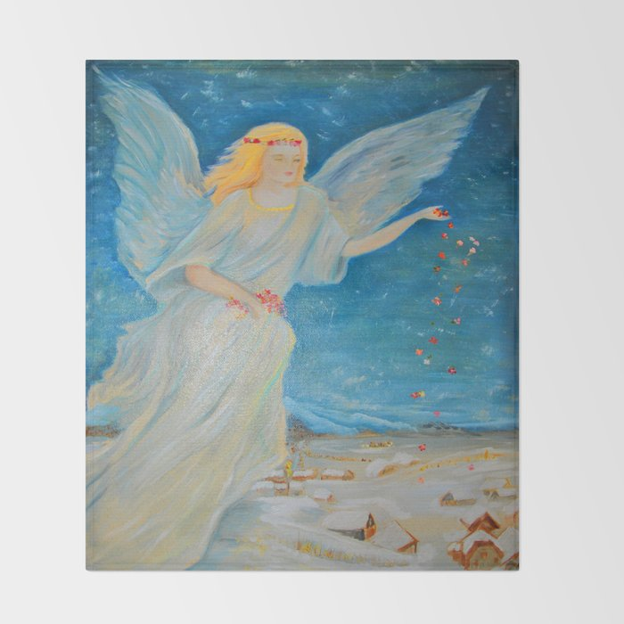 Bless Me Guardian Angels Are Here Angel Of Abundance Love Extraordinary Guardian Angel Throw Blanket