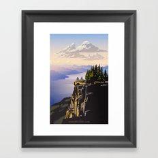 Retro travel BC poster Framed Art Print
