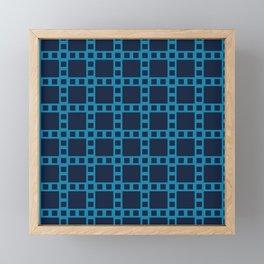 Blue Square Seamless Pattern - Filmstrip Inspired 008#001 Framed Mini Art Print
