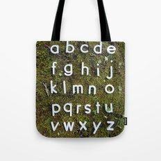 Alphabet Moss Poster Tote Bag