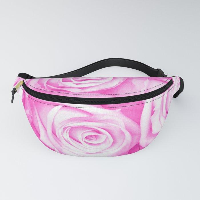 Elegant Fantasy Pink Roses Fanny Pack