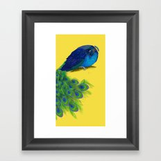 The Beauty That Sleeps - Vertical Peacock Painting Framed Art Print