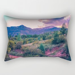 Glowing Garden of the Pinks Rectangular Pillow