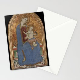 Cecco di Pietro - Virgin and Child Playing with a Goldfinch and Holding a Sheaf of Millet Stationery Cards