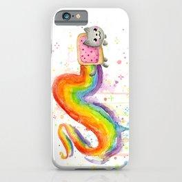 Rainbow Cat in Pop Tart iPhone Case