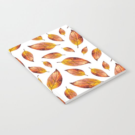 Autumn Leaves Pattern 03 Notebook