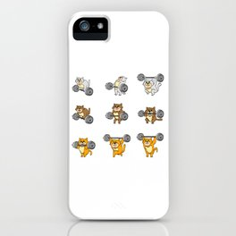 """Great Leg Day Shirt """"Cat"""" T-shirt Design Dumbbell Injury Injured Crutches Funny Fitness iPhone Case"""