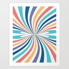 Rainbow Candy // Swirl Abstract Art Print