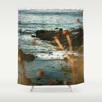 west coast Shower Curtains featuring West Coast Oceans by Amy J Smith Photography